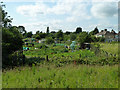 TQ4987 : Temple Allotments, Dagenham by Robin Webster