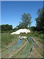 TQ5309 : Footpath, Lower Claverham Farm (2) by Simon Carey