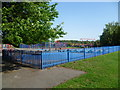 TQ4669 : Playground at Hoblingwell Wood Recreation Ground, St Paul's Cray by Marathon