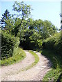 TL2664 : Footpath to the A1198 Ermine Street by Adrian Cable