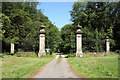 SK7664 : Ossington Hall gates by Richard Croft
