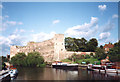 SK7953 : Pleasure boats on the Trent and Newark Castle, 1993 by John Sutton
