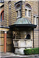 TQ3177 : Christchurch, Brixton Road: external pulpit by Christopher Hilton
