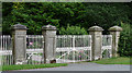 SO3289 : Gates near Bishop's Castle by Stephen Richards