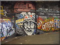 TQ3079 : Brian Haw Graffiti in Leake Street-The Tunnel by PAUL FARMER