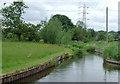 SJ9051 : Canal feeder channel near  Norton Green, Stoke-on-Trent by Roger  Kidd