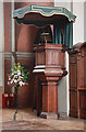 TQ2588 : St Jude on the Hill, Hampstead Garden Suburb - Pulpit by John Salmon