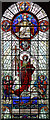TQ2588 : St Jude on the Hill, Hampstead Garden Suburb - Stained glass window by John Salmon