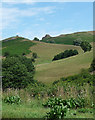 SO4792 : Hope Bowdler Hill, Hope Bowdler by Stephen Richards
