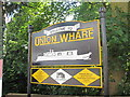 SP7287 : Union Wharf sign by Oast House Archive