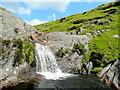 SN8656 : Sgwrd-y-ffrwd waterfall by Jonathan Billinger