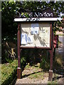 TG0127 : Wood Norton Village Notice Board by Adrian Cable