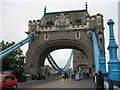 TQ3380 : Northern End of Tower Bridge by Stephen Armstrong