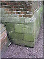 TF5275 : Anderby, St Andrew's Church, cut bench mark by Brian Westlake