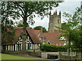TQ5045 : Rooftops and church tower, Chiddingstone : Week 28