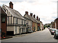 TM3877 : Shops and cottages in London Road, Halesworth by Evelyn Simak