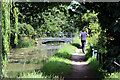 TL3707 : Jogging by the New River, Broxbourne, Hertfordshire by Christine Matthews