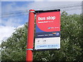 SU3217 : Bus Stop near Ower, Hants by David Hillas