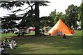 SP3165 : Fringe of a doggie event, Pump Room Gardens by Robin Stott