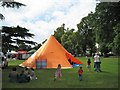 SP3165 : Orange tent, Pump Room Gardens by Robin Stott