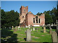 TQ1692 : Stanmore: The ruin of the old church of St John the Evangelist by Nigel Cox