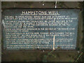 SJ3174 : Hampstons Well marker stone by Salford Sal