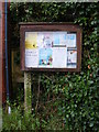 TM4566 : Eastbridge Village Notice Board by Adrian Cable