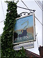 TM4566 : Eels Foot Public House sign, Eastbridge by Adrian Cable