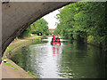 TQ1379 : Narrowboat near the top lock by Oast House Archive