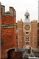 TQ1568 : Clock, Hampton Court Palace, Surrey by Christine Matthews