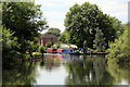TL3807 : Houseboats, River Lee Navigation, Hoddesdon, Hertfordshire by Christine Matthews