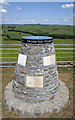 NT4610 : The Nan Lyle memorial cairn on Whitchesters Hill by Walter Baxter