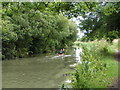SU0262 : Canoeists heading east on the Kennet and Avon canal by Rob Purvis