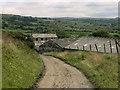 SD7024 : Track Towards Pulford Farm by David Dixon