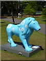 SZ0891 : Bournemouth: lions in the Upper Gardens by Chris Downer