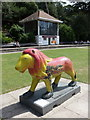 SZ0891 : Bournemouth: lion in the Lower Gardens by Chris Downer