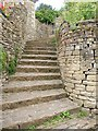 ST9387 : Steps in Malmesbury by Derek Harper