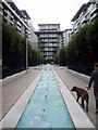 TQ2877 : Water feature in Battersea Wharf by PAUL FARMER