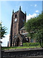 SJ8446 : Newcastle-under-Lyme: church tower, St. Giles by Chris Downer