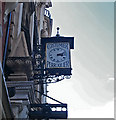 TQ2980 : Clock, 41/43 Wardour Street by Julian Osley