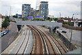 TQ3980 : Docklands Light Railway, Silvertown Way by N Chadwick