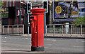 J3472 : Pillar box, Belfast by Albert Bridge