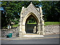 SE4253 : The church lychgate at Hunsingore by Ian S