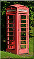 NM9134 : Telephone box - Connel village by TheTurfBurner