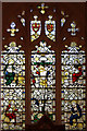 TL4845 : St Peter, Duxford - Stained glass window by John Salmon