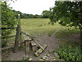 SK4232 : Broken down stile on path to Ambaston by Peter Barr