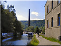 SD9827 : Rochdale Canal, Hebden Bridge by David Dixon
