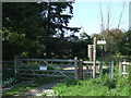 TL4301 : Footpath gate near Epping by Malc McDonald