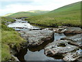 SN9071 : Afon Elan above the bridge by Andrew Hill