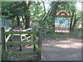 TQ4670 : Kissing Gate in Scabury Park Nature Reserve by David Anstiss